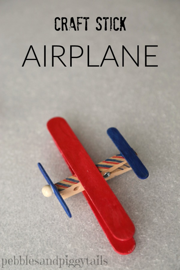 Craft Stick Airplane And Kits For Charity