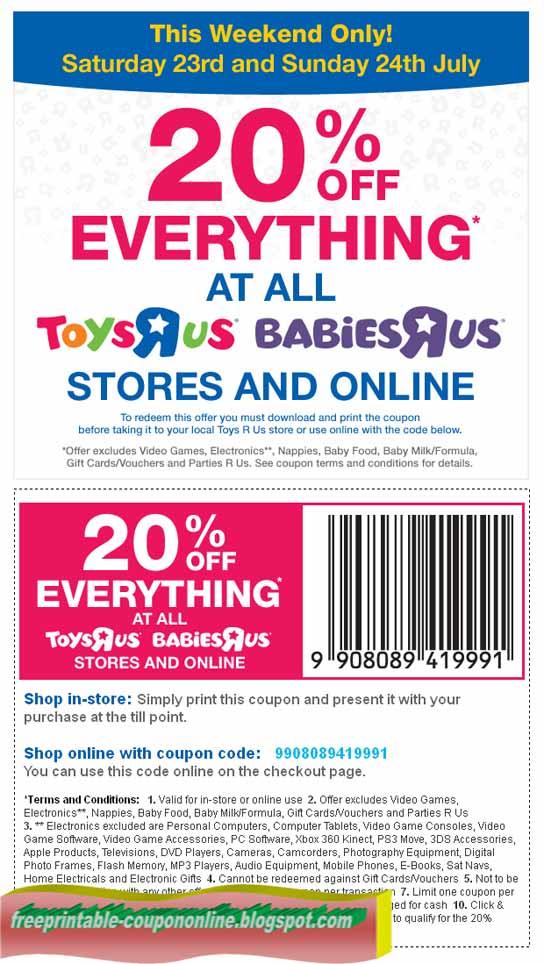 Online Babies R Us Coupon Codes 20 Off : online, babies, coupon, codes, Formula, Store, Discount