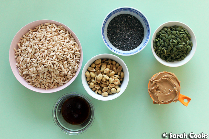 Ingredients for Salted Peanut Rice Krispie Treats