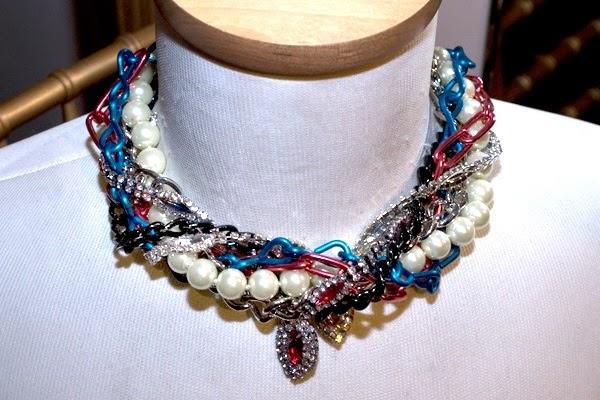 Amazing and Unusual beads multistrand twisted choker