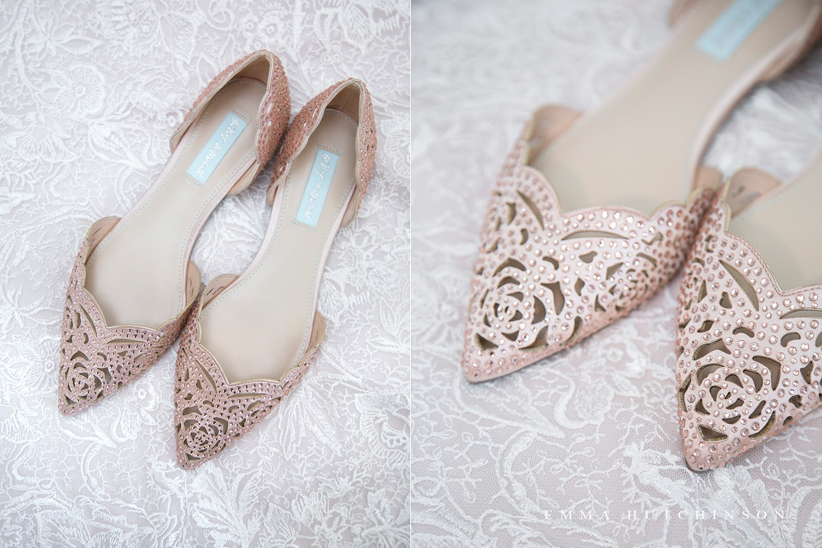 New-Wes-Valley Central Newfoundland Weddings - Gorgeous blush pink wedding shoe