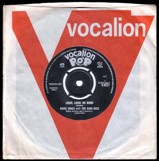 David Bowie, single 1964 cover back