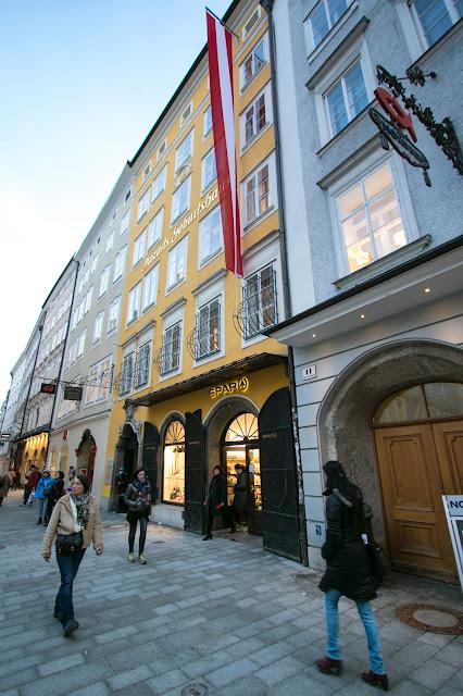 Mozart's Geburtshaus-Casa natale di Mozart-Salisburgo