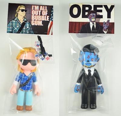 "They Live SSFC Kids ""All Out Of Bubblegum"" & ""Obey"" Resin Figures by Super Secret Fun Club"