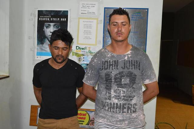 PM de Cajobi prende dois por tráfico de drogas