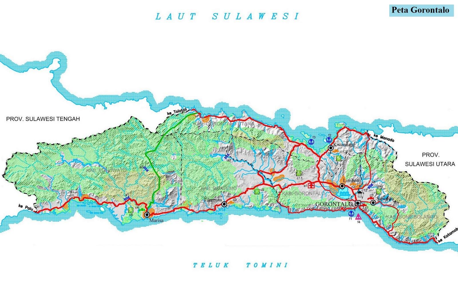 Peta Gorontalo HD