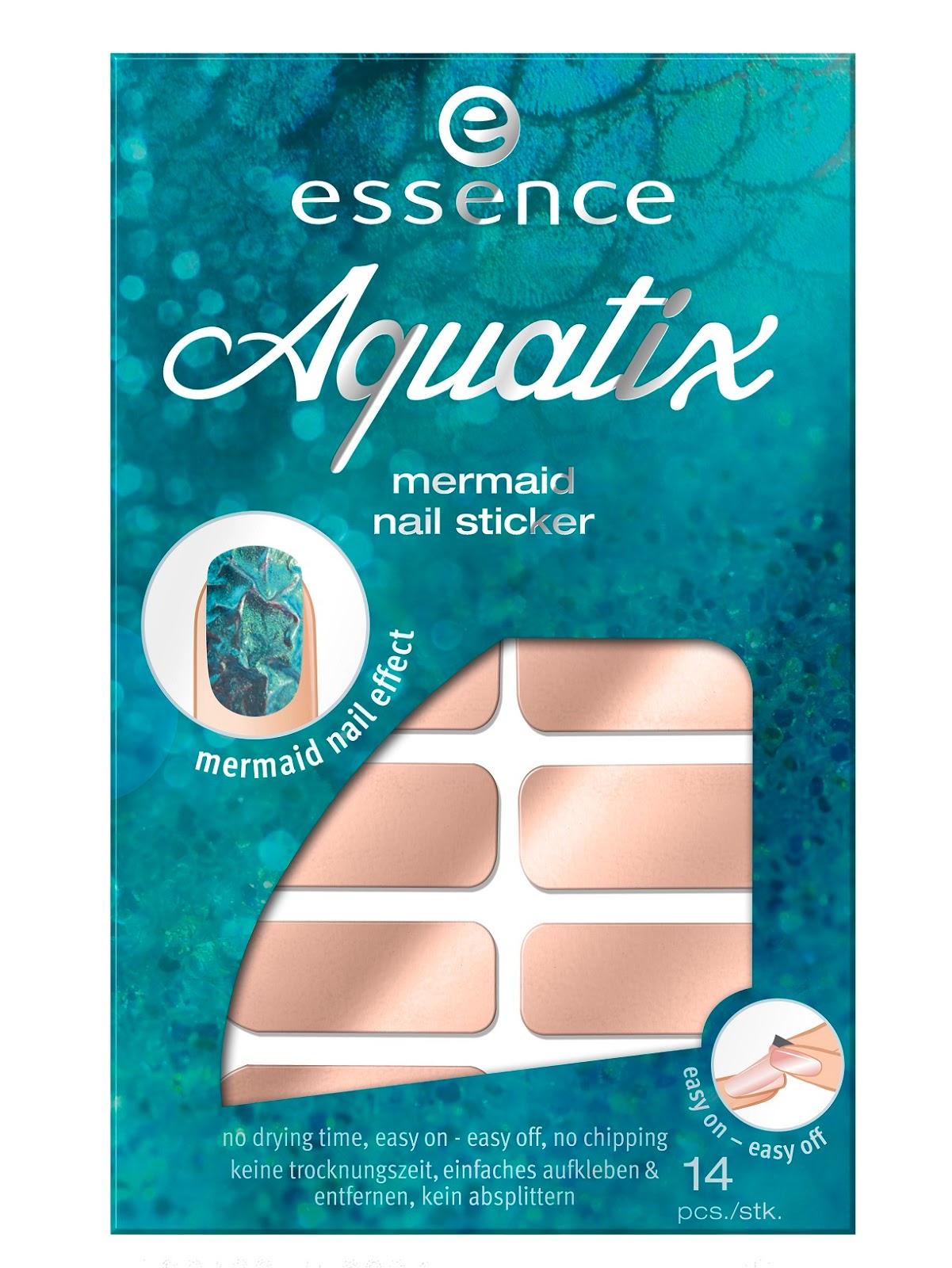 essence aquatix – mermaid nail sticker