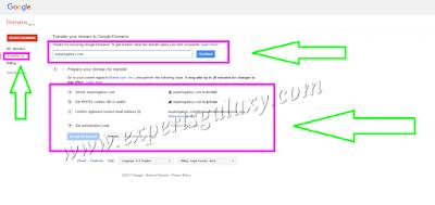 Transfer Domain Google Registrar