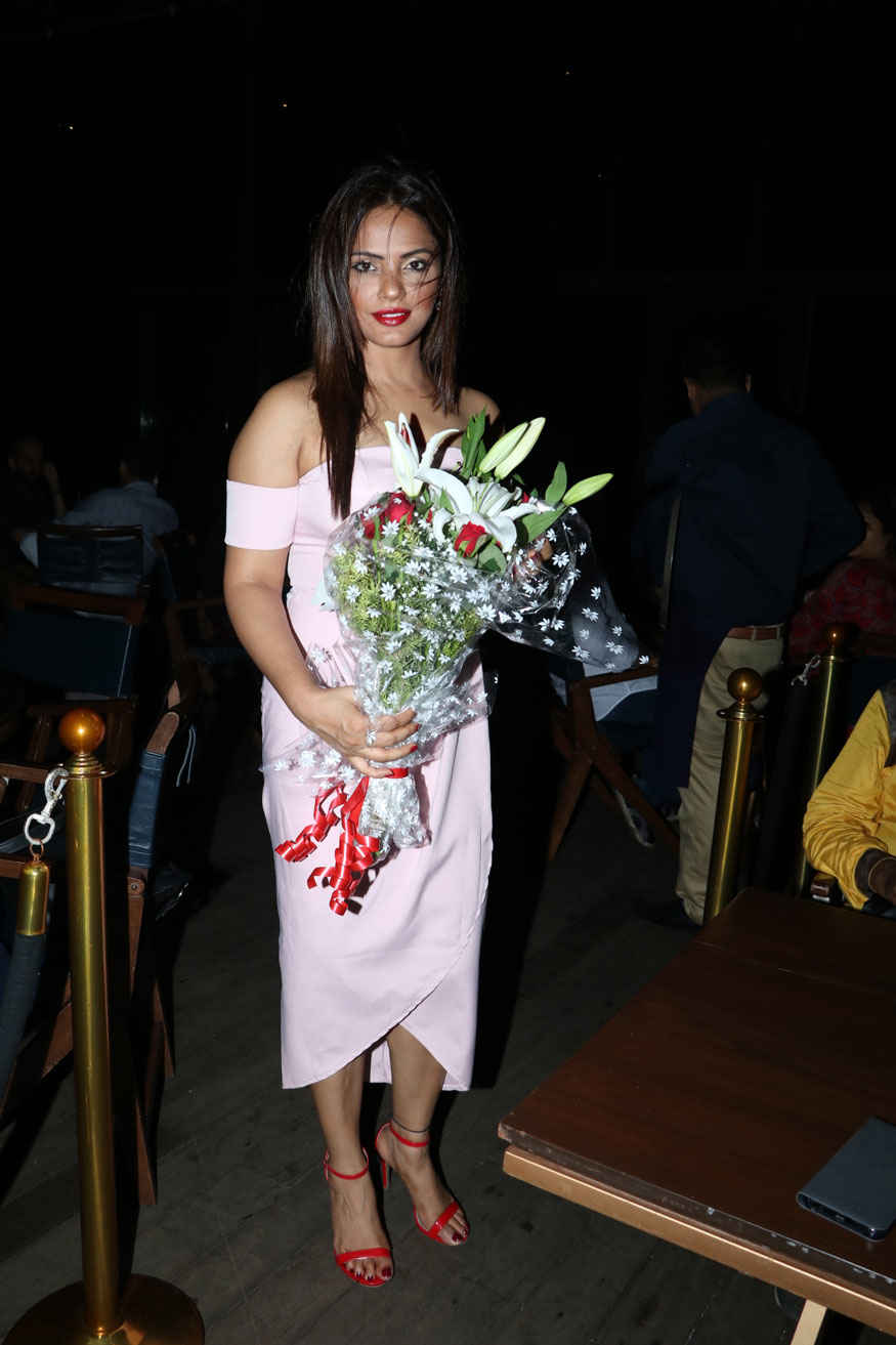 Neetu Chandra During Her Birthday party at ESTELLA In Juhu