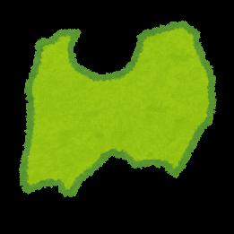 中部地方9県の地図のイラスト都道府県 かわいいフリー素材集