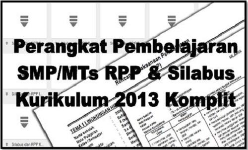 Perangkat Pembelajaran Smp Mts Rpp Dan Silabus Kurikulum 2013 Komplit Ops Sekolah Kita