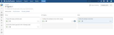Scrum Board using JIRA