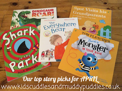 A selection of books we chose for our April under 5s favourites