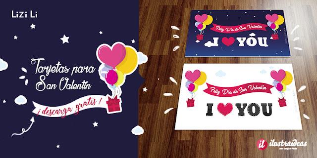 tarjetas para San valentin o día del amor