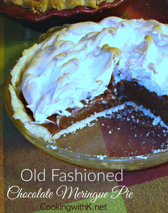 Old Fashioned Chocolate Meringue Pie