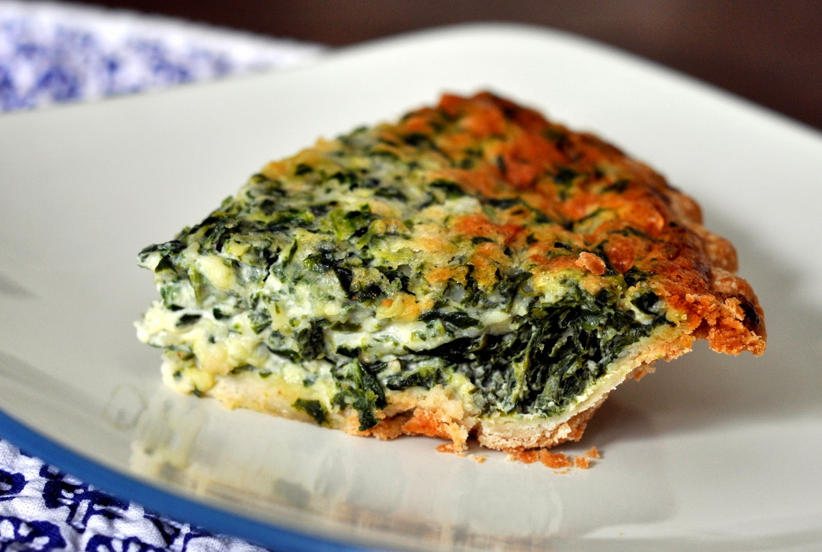 Spinach and Gruyere Quiche | Taste As You Go