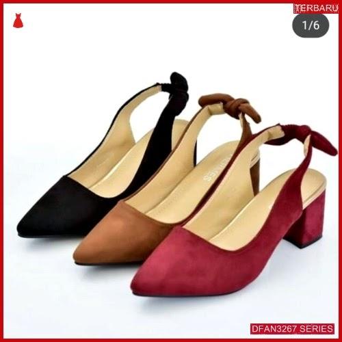 DFAN3267S26 Sepatu Dw 09 Hak Wanita Tahu Ikat BMGShop