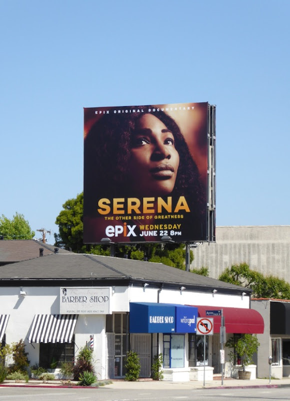 Serena documentary Epix billboard