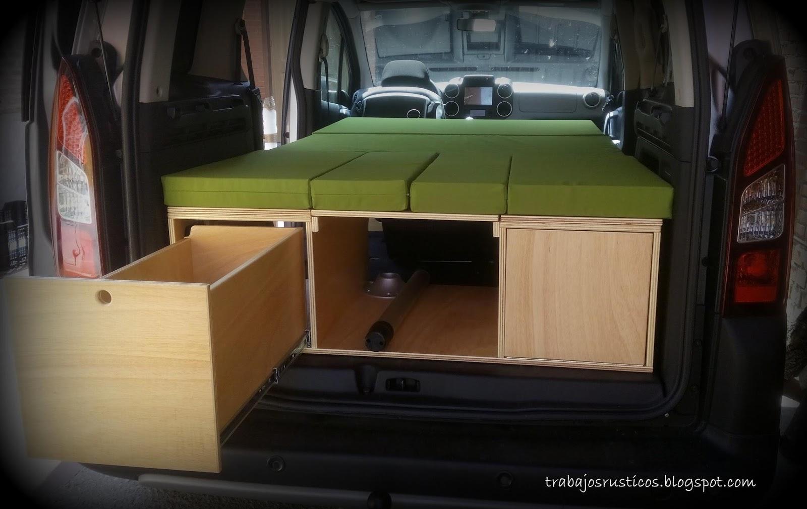Trabajos Rsticos Modulo Camper Peugeot Partner Tepee 2014