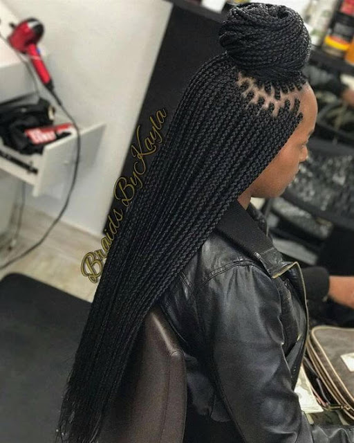 Braided hair is extremely flexible for styling 49 Amazing Cornrow Braids For Women That Attract Beauty