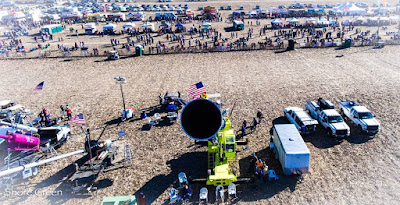 Looking down the barrel of an air cannon at Punkin Chunkin