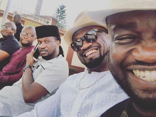 Nigeria artist Jude, Peter & Paul Okoye the P square family in friend marriage introduction recently
