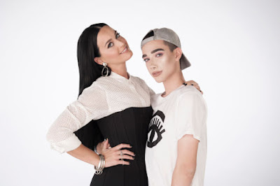 Covergirl brand ambassadors Katy Perry and James Charles. Photo: Courtesy of CoverGirl