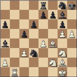 XIX Campeonato Individual de Cataluña 1950/51, partida de ajedrez Lladó vs. Bordell, posición después de 26…Cxd3