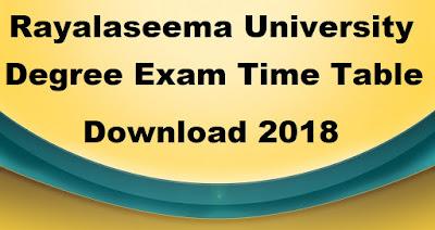 Manabadi RU Degree Time Table 2018 Download, Schools9 RU UG Time Table 2018
