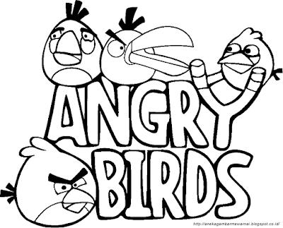 Gambar Mewarnai Angry Birds (3)