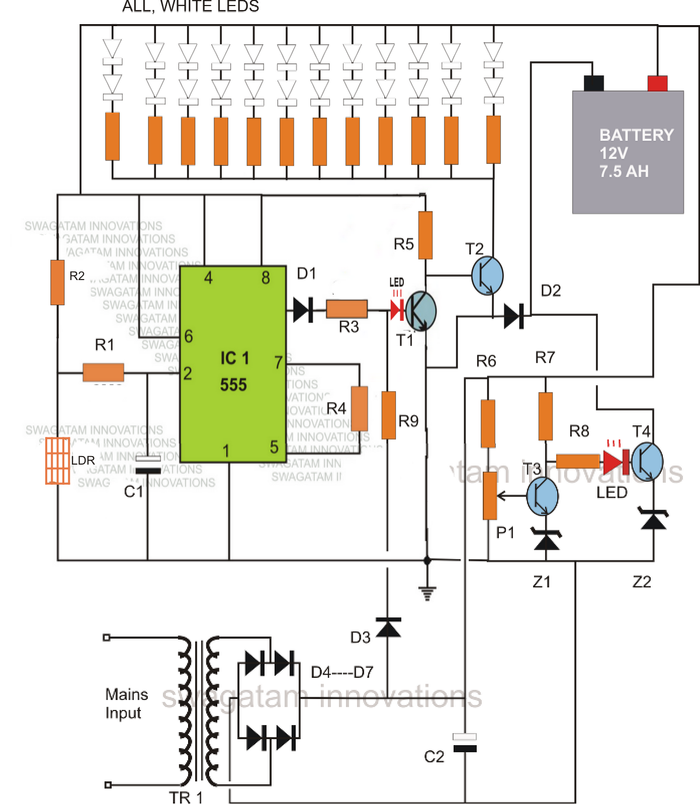12 Lead Motor Wiring Diagram Constant Current Supply Wiring Diagrams additionally Led Emergency Light Circuit With as well How To Make Solar Battery Charger furthermore Zinc E2 80 93cerium battery further Stopping Criterion Of Lead Acid Battery Charging Operation With Smps. on lead acid battery charger circuit diagram 2
