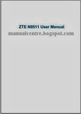 ZTE Source N9511 Manual Cover