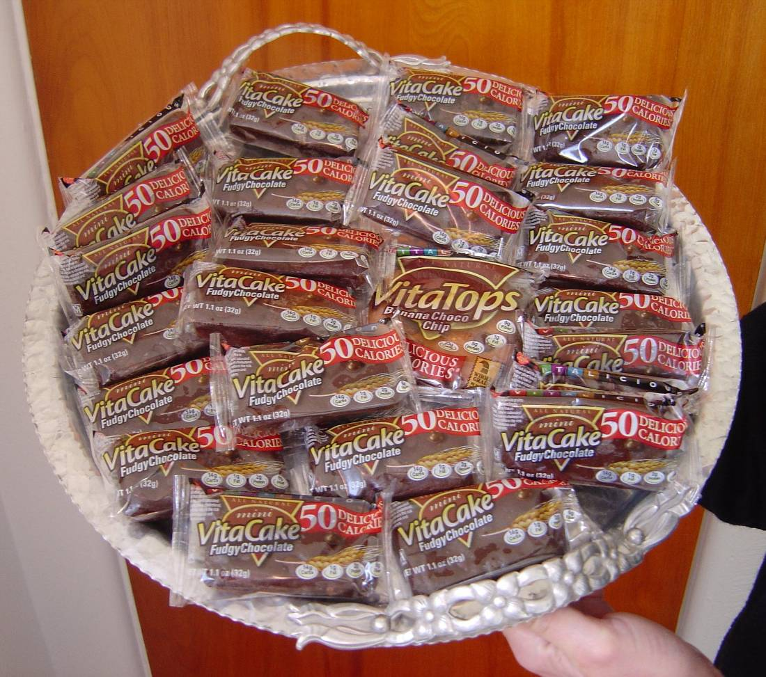 Vitalicious Fudgy Chocolate Mini VitaCakes platter.jpeg