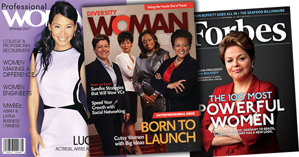 Business woman magazine covers