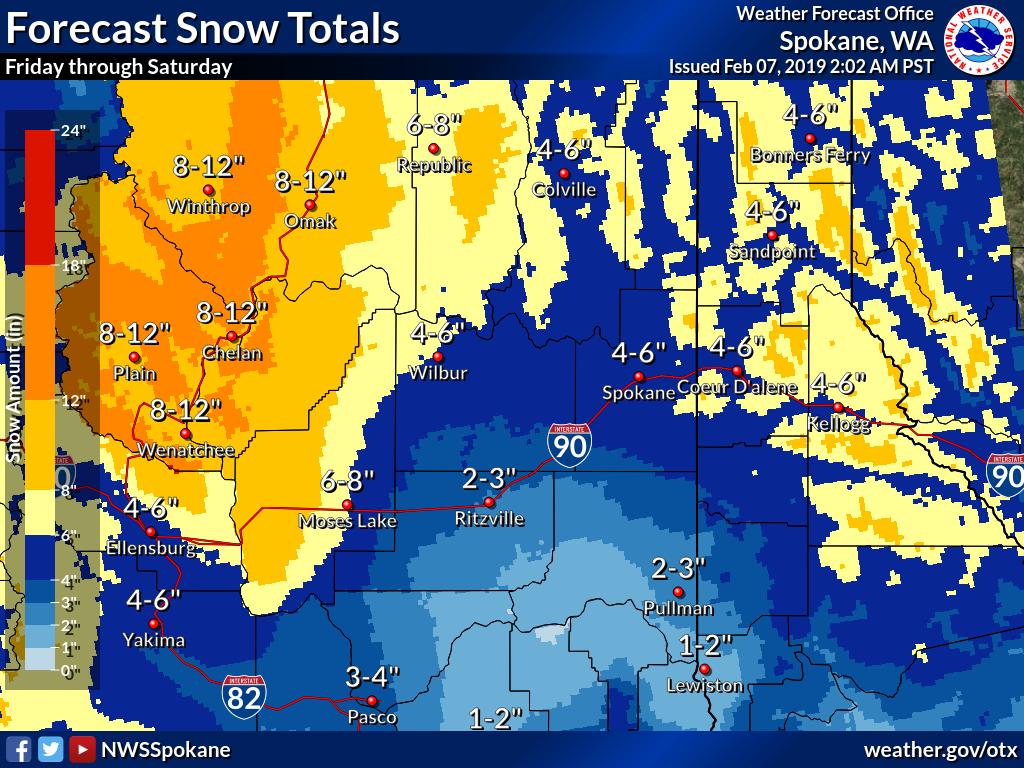 Inland Northwest Weather Blog: Update to weekend winter storm