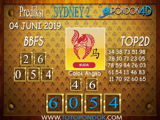 Prediksi Togel SYDNEY 2 PONDOK4D 04 JUNI 2019