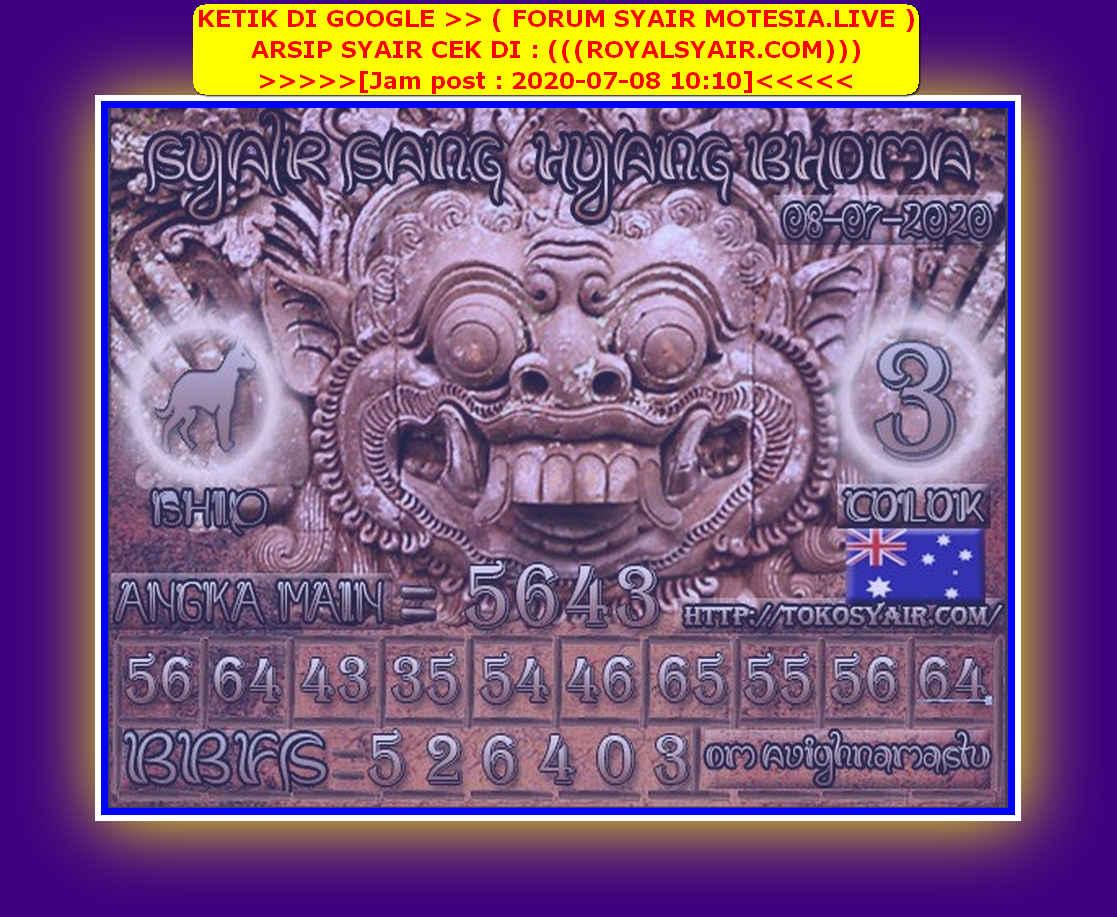 Kode syair Sydney Rabu 8 Juli 2020 101