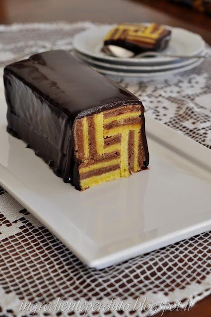 cake millerighe con glassa al cacao
