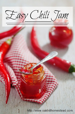 This delicious sweet chili jam isn't just for your morning toast. Try it on sandwiches, creamy cheese or crackers.