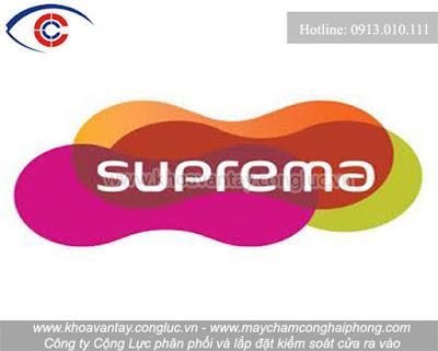 Logo thương hiệu kiểm soát cửa Suprema.