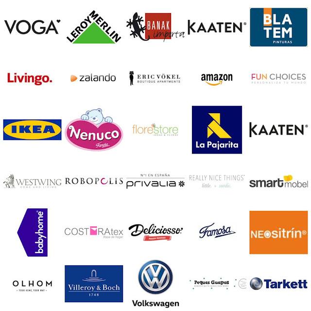 Logos marcas colaboradoras con Una Pizca de Hogar