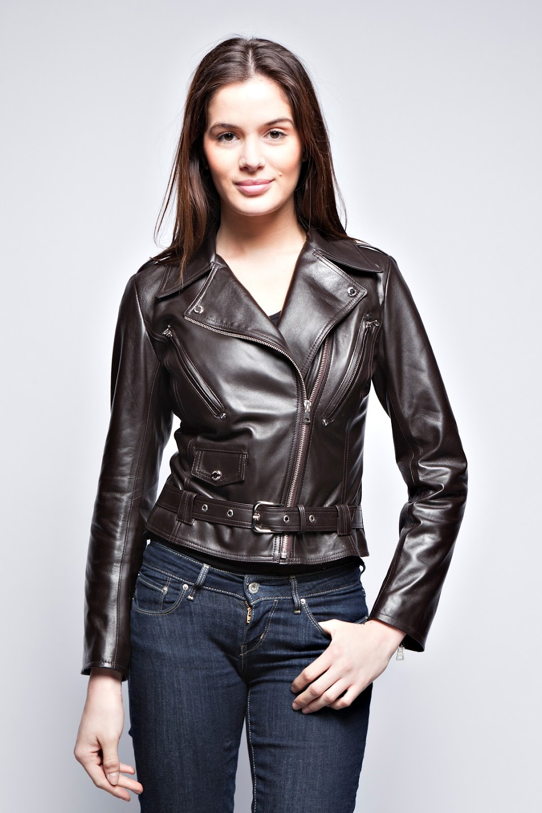 Black Leather Jacket For Women | Wallpaper HD