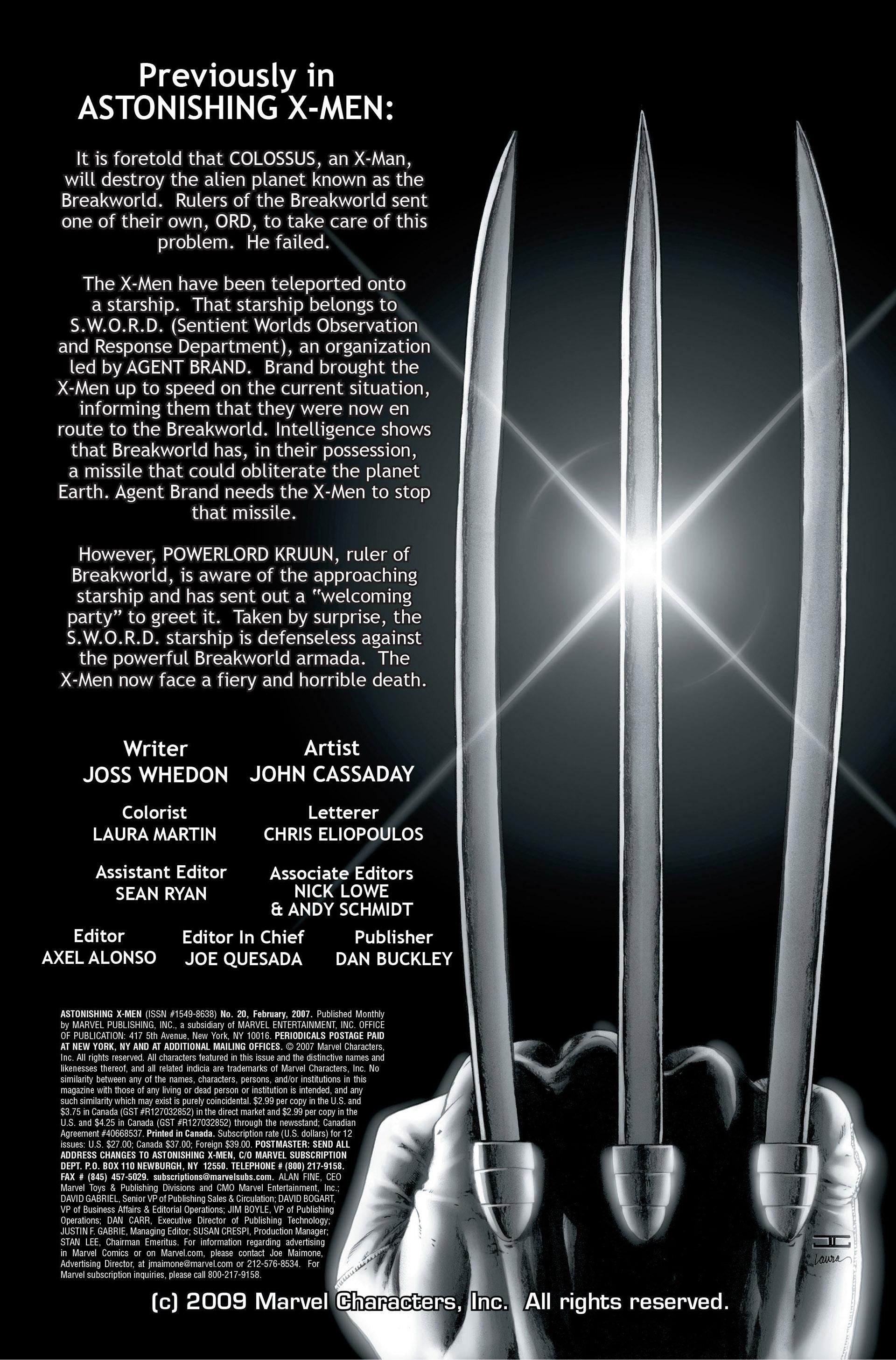 Read online Astonishing X-Men (2004) comic -  Issue #20 - 2