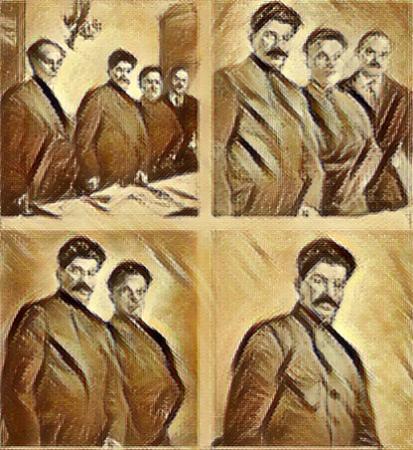 Peça 1 – os processos de Curitiba e os de Moscou O interrogatório de Renato Duque lembra os processos de Moscou de 1938, onde foram condenados bolchevistas históricos como Lev Khamenev, Gregori Zinoviev,  Nikolai Bukharin, Leon Trostsky, Leon Sidov (filho de Trotsky), todos condenados à morte após confissões. Trostsky e seu filho fugiram antes.
