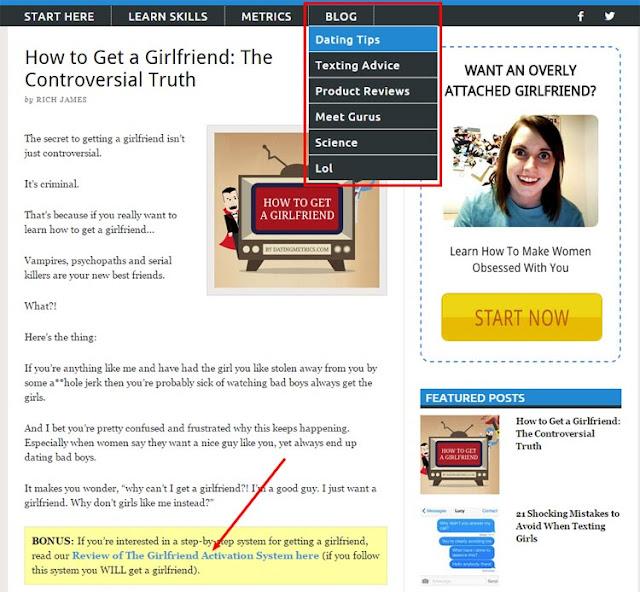 crea artículos en torno a los términos de búsqueda populares