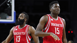 James Harden and Clint Capela