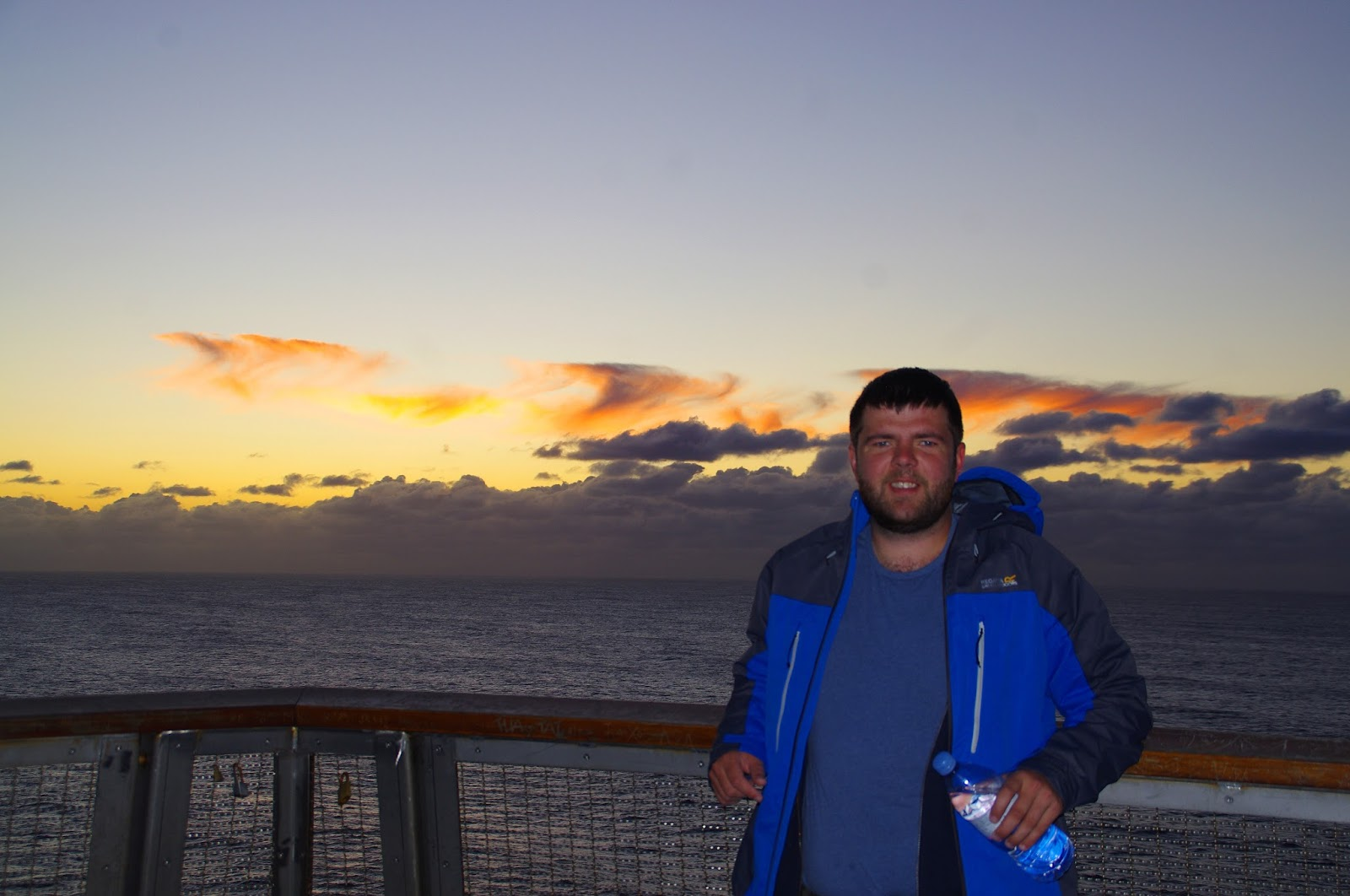 Dan with the Sun rise behind