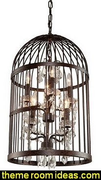 bird cage chandeliers  birdcage bedroom ideas - decorating with birdcages - bird cage theme bedroom decorating ideas - bird themed bedroom design ideas - bird theme decor - bird theme bedding - bird bedroom decor