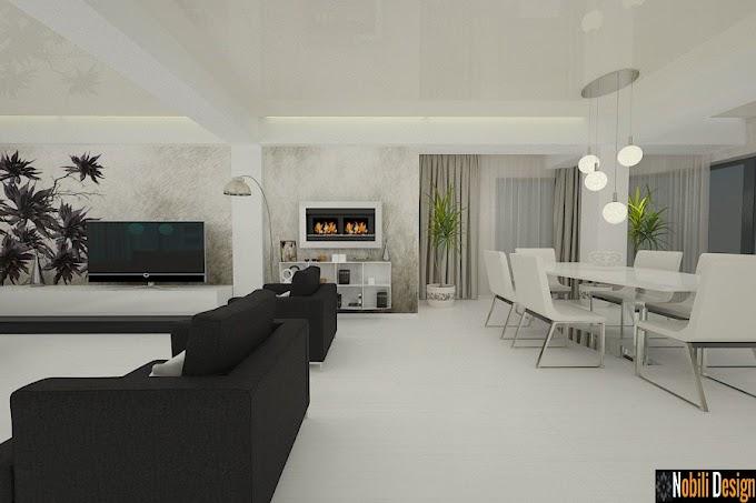 Design interior living modern open space - Amenajari interioare case in Constanta