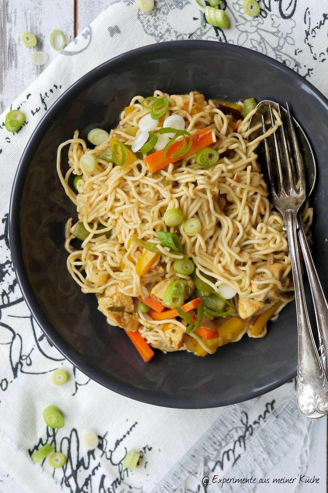 Experimente aus meiner Küche: Schnelle Asiapfanne mit Mie-Nudeln